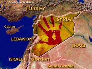 Syria Map Hand