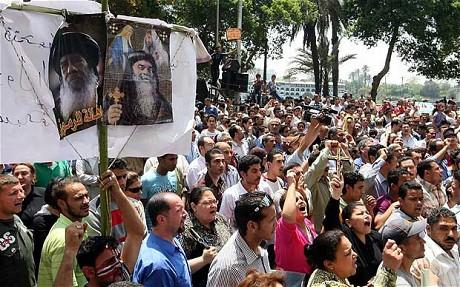 Coptic Christians protest