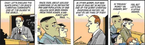 Saint Doonesbury, the Teaching Missionary to the Christians