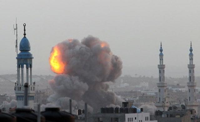 Israel destroys Hamas Cabinet building