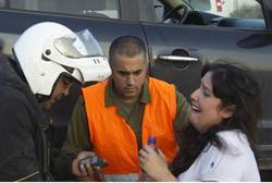 Direct Hit on Car in Ofakim: 4 Hurt, One Seriously