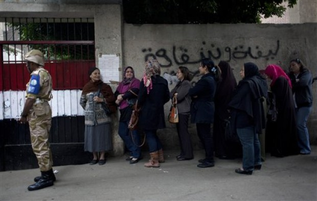 Women Barred from Voting on Constitution