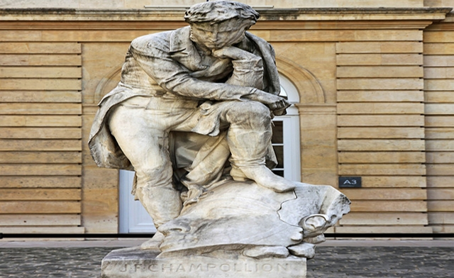 Outrage in Egypt over 'shameful' Paris statue of Champollion
