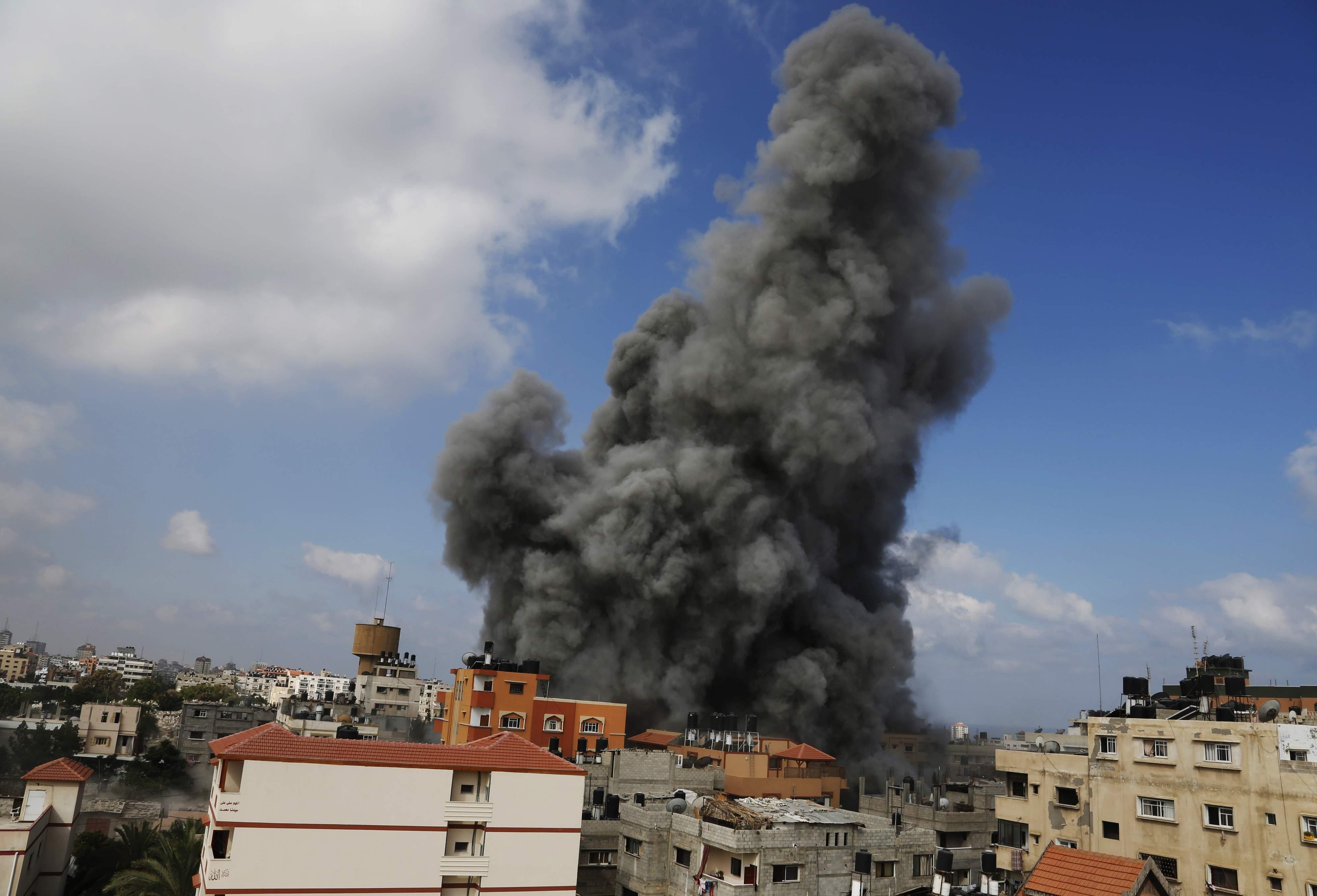 Explosion Rocks Hamas Security Headquarters
