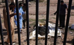 bodies found in different parts in the city of Sirte. (Reuters)