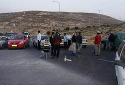 Gush Etzion Residents Protest Rock Attacks