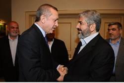 Erdogan and Hamas leader Mashaal