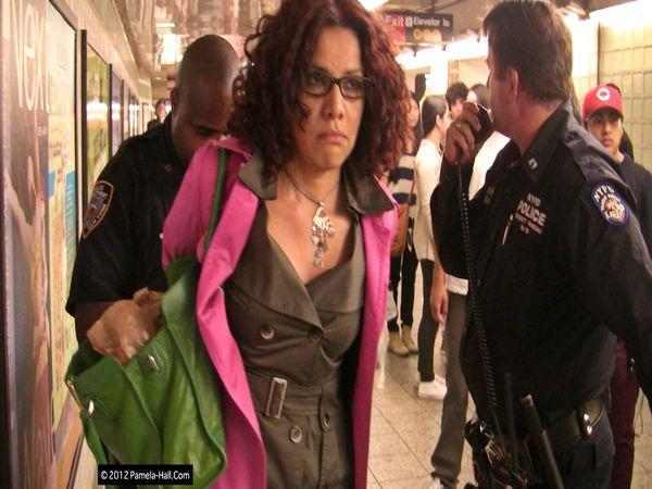 Mona Eltahawy being arrested after assault on blogger photo-Pamela Hall