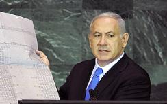Netanyahu shows UN the Auschwitz plans