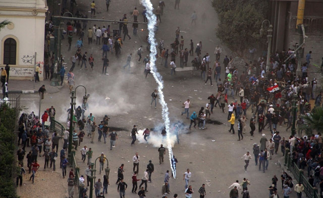 Protesters demonstrating against Egypts Islamist President -AFP
