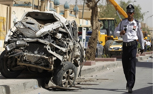 A series of car bombs killed at least 16 people and wounded dozens of others.AFP