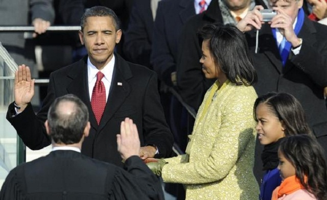 'I did it' Obama's quick remark after taking the oath of office