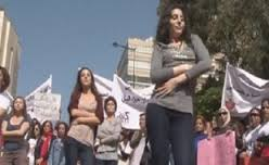 Lebanese women take to the streets