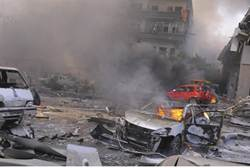 Syrian explosion - Reuters