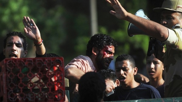 A soldier Rand member of the Muslim Brotherhood at Tahrir Square. Reuters