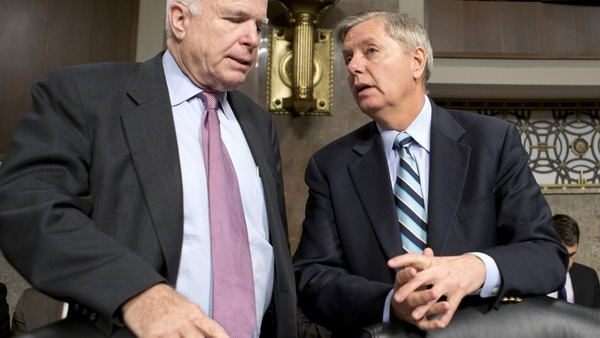 Lindsey Graham and John McCain Photo - AP
