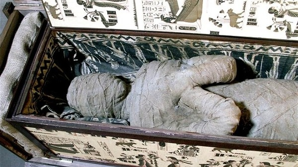 a mummy in German boy grandmothers attic. Photo - EPA