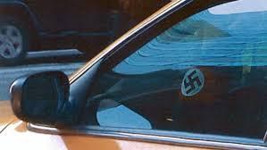 NY taxi Drives with Swastika