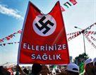 Nazi flag hoisted by Turkish flotilla support