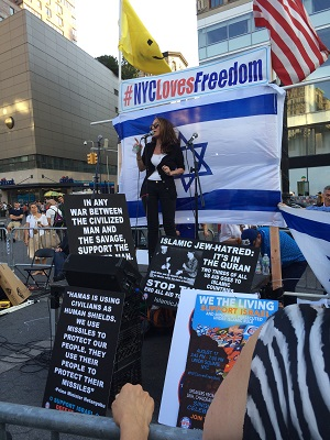 Pamela Geller at Union Square