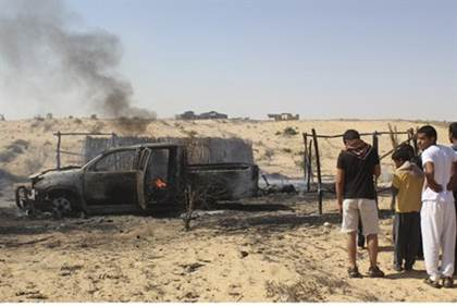 Remains of Egyptian firefight in Sinai with terrorists -Reuters