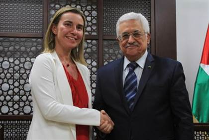 EUs Federica Mogherini Mahmoud Abbas