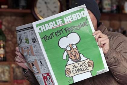 Cover of latest issue of Charlie HebdoReuters