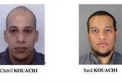 Prime suspects- Cheir and Said Kouachi - French police