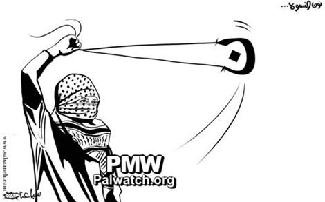 Female rock terror Palestinian Media Watch