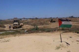 Gaza buffer zone on Egyptian border