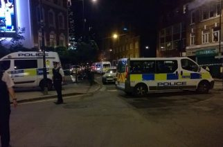 Van drives into crowd in London