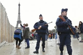 Police at the Eiffel Tower, Paris - Reuters