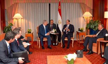 Netanyahu meets with Al-Sisi -GPO